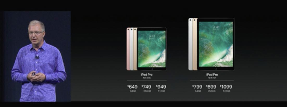 新型 iPad pro容量