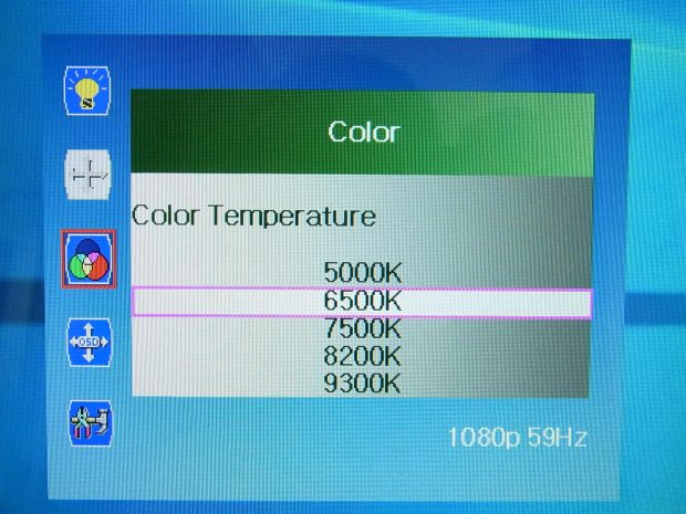 XP-PEN OSDカラー設定