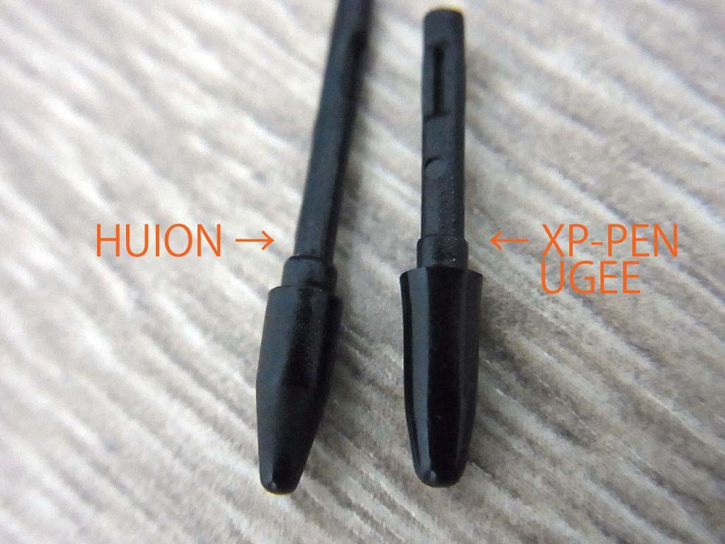 HUION,UGEEペン芯比較