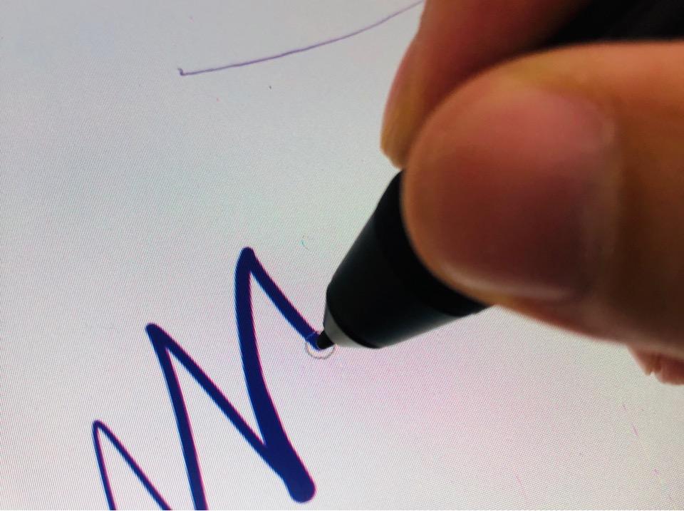 XP-PEN Artist15.6 Pro 視差をチェック