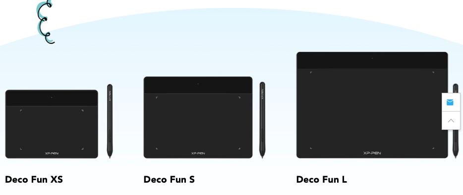 XP-PEN Deco Fun Sサイズ